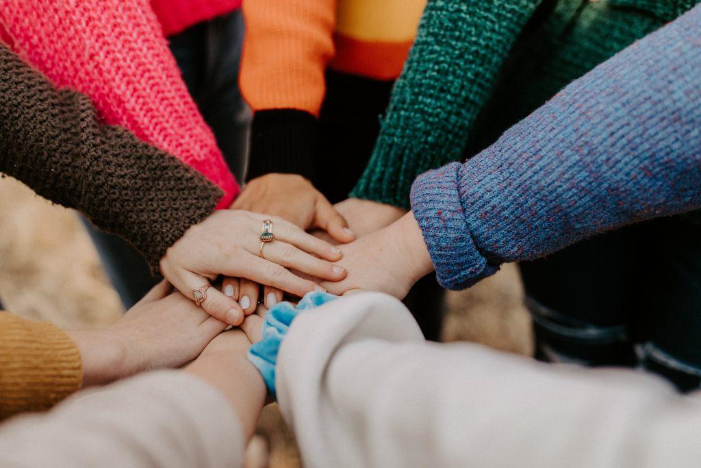Teamwork hands image